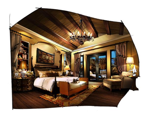 灯具产品手绘效果图 产品效果图手绘 室内设计手绘效果图
