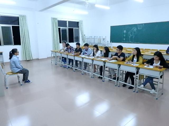 经管系学生会干事的招新