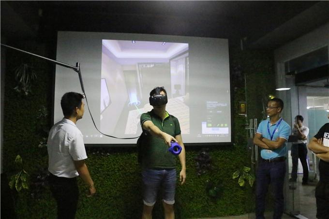 参观VR建模中心并体验