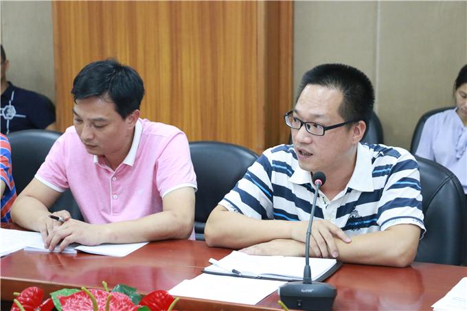 招生就业部副部长黄楚东通报学校2018年计划下达情况